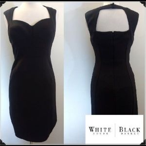 WHBM Sexy Instantly Slimming Open Upper Back Dress